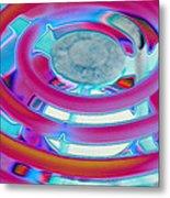 Neon Burner Metal Print