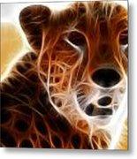 Neon Cheeta Metal Print