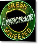 Neon Lemonade Metal Print