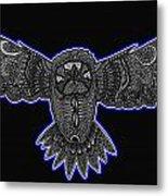 Neon Owl Metal Print