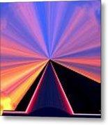 Neon Pinnacle Metal Print