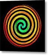 Neon Spiral Metal Print