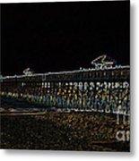Neoned Pier Metal Print