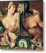 Neptune And Amphitrite Metal Print by Jacob II de Gheyn