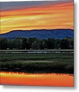 Nerepis Marsh At Dusk IIi Metal Print