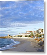 Nerja Beach On Costa Del Sol Metal Print