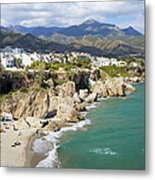 Nerja Town On Costa Del Sol In Spain Metal Print