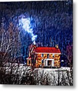 Nestled In For The Winter Metal Print