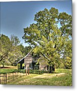 Nestled Under The Trees Metal Print