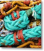 Nets And Knots Number Four Metal Print by Elena Nosyreva
