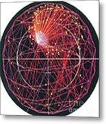Neutrino Tracks Metal Print
