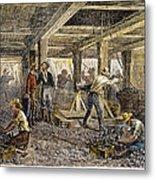 Nevada Silver Mine, C1880 Metal Print