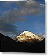 Nevado Sajama At Sunset. Republic Of Bolivia.  Metal Print by Eric Bauer