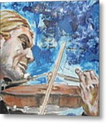 Never Forget The Sound Of Violin Metal Print