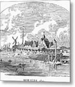 New Amsterdam, 1650 Metal Print