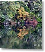 New England Fall Reflection Metal Print
