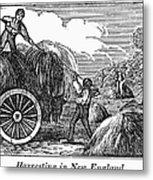 New England: Harvest, 1830 Metal Print