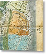 New England To Virginia, 1651 Metal Print by Photo Researchers