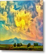 New Mexico Dawn Metal Print