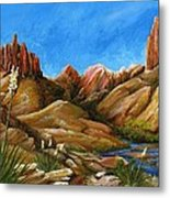 New Mexico Highlands In Spring Metal Print