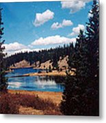 New Mexico Lake Metal Print by Linda Pope