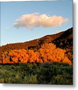 New Mexico Series - Cloud Over Autumn Metal Print