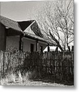 New Mexico Series - Fenced In House Metal Print