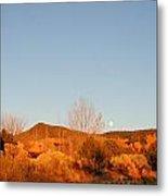 New Mexico Series - Moonrise Autumn Metal Print