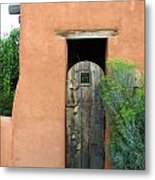 New Mexico Series - Santa Fe Doorway Metal Print