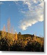 New Mexico Series - Santa Fe Landscape Autumn Metal Print