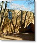 New Mexico Series - Shadows On Adobe Metal Print