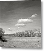 New Mexico Series - The Long View Black And White Metal Print