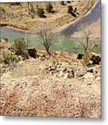 New Mexico Series Turn Of The River Metal Print