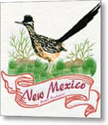 New Mexico State Bird The Greater Roadrunner Metal Print