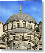 New Mosque Domes In Istanbul Metal Print