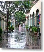 New Orleans After Rain Metal Print
