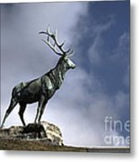 New Orleans Stag Statue Metal Print