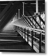 New River Gorge Bridge Catwalk Metal Print