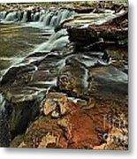New River Waterfall Metal Print