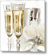 New Year Champagne Metal Print