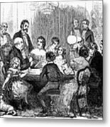 New Years Party, 1857 Metal Print