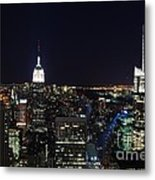 New York At Night Metal Print by Alan Clifford