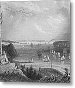New York Bay, 1838 Metal Print