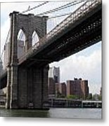New York Bridges 1- Brooklyn Bridge Metal Print