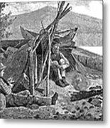 New York: Camping, 1874 Metal Print