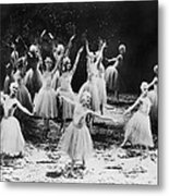 New York City Ballet Performing The Metal Print by Everett