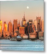 New York City Moonrise IIi Metal Print
