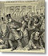 New York City Police Riot Of 1857. Riot Metal Print