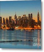 New York City Skyline Morning Twilight IIi Metal Print