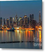New York City Skyline Morning Twilight Xi Metal Print